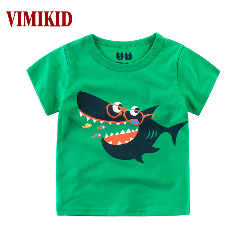 Boy T-Shirt Clothing Short-Sleeve Girls Children's New Top And O-Neck Cartoon Western-Style