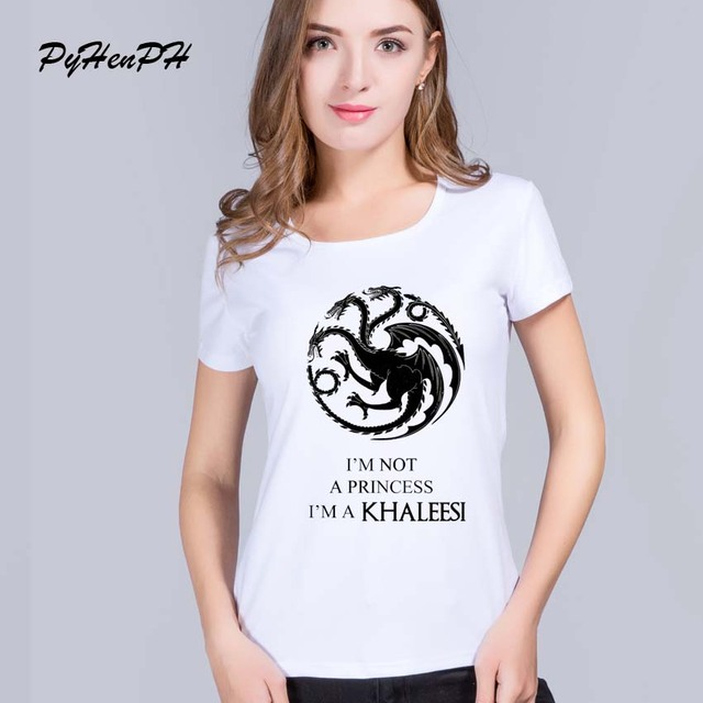 81ad2b1f2 PyHen game of thrones t shirt women The Mother of Dragons Printed women tee  tops Blusa lady t-shirts