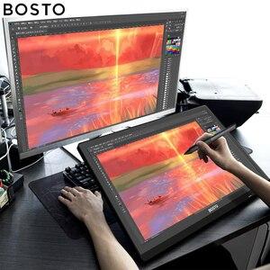 Image 3 - Графический мини монитор Bosto для рисования, волшебная Подставка для планшета для художника с водонепроницаемым экраном и стилусом без батареи, художественная перчатка подставка
