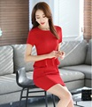 Novelty Red Fashion Slim Women Work Suits Tops And Skirt 2 Pieces Set  Summer OL Styles Female Outfits Blazers Plus Size