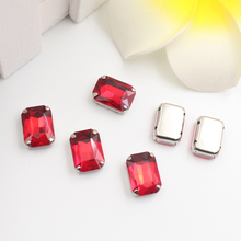 Siam Red Glass Rhinestones Sew on Crystal For Clothing Loose Flatback Dress Stones Decorative On 20PCS