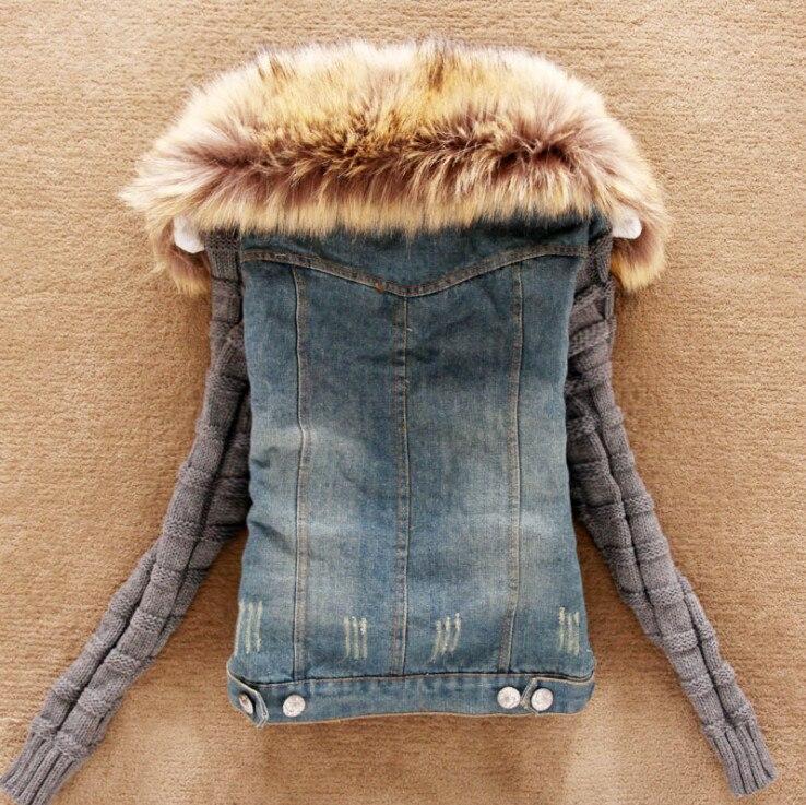 As Automne Taille Laine Fourrure Jeans Base Plus Femmes Show 4xl Denim 5xl D'agneau Hiver Femelle La Veste De Survêtement Manteau Occasionnel qqnAHfP