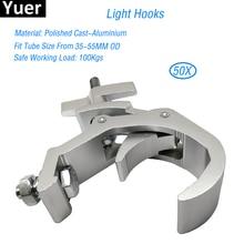 Free Shipping 50pcs/Lot Disco DJ Stage Audio Heavy Duty Light Mounting Aluminum Lamp Hook 35 55mm Truss 100kg Load Capacity