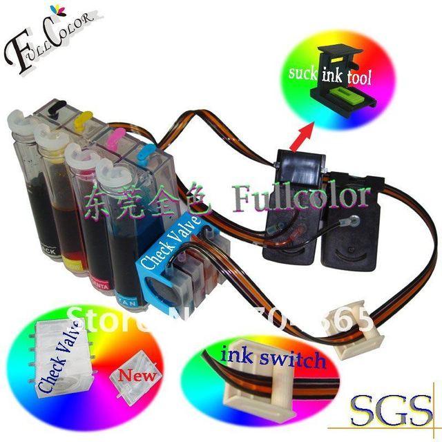 Free Shipping Ciss Kits For Hp 61 Black Tricolor Prinithead Ink Cartridge Diy