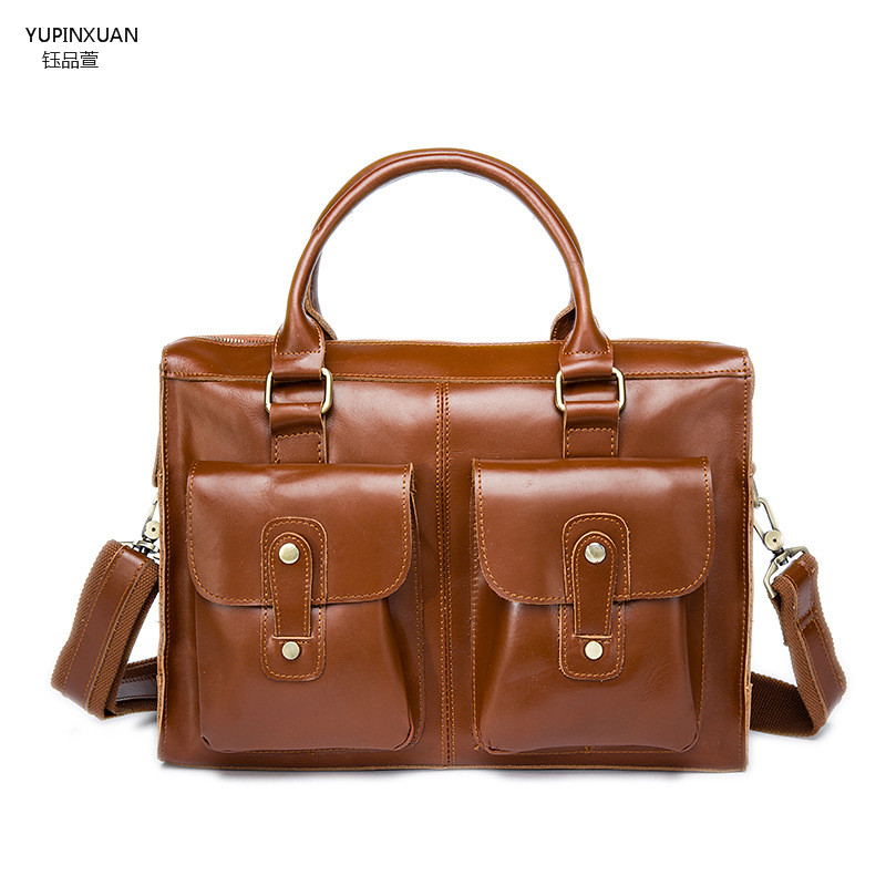 YUPINXUAN Cow Leather Messenger Bags Business Men Briefcases Maleta Homem Maletin Hombre Lawyer Bags Men Office Bags Business yupinxuan genuine leather briefcases men real leather messenger bags business laptop bag lawyer brief cases maletin chile