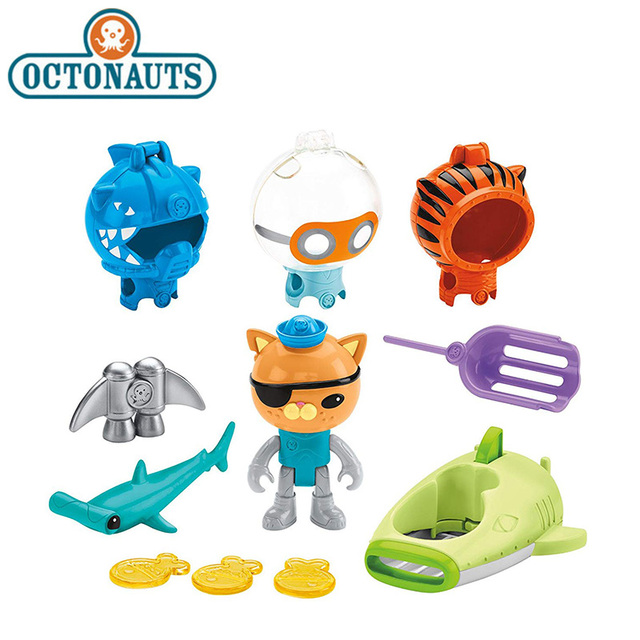 Original Octonauts Action Figure Toy Kwazii's Shark Adventure Barnacels Peso Dashi Inkling Model Toys for Children Collection