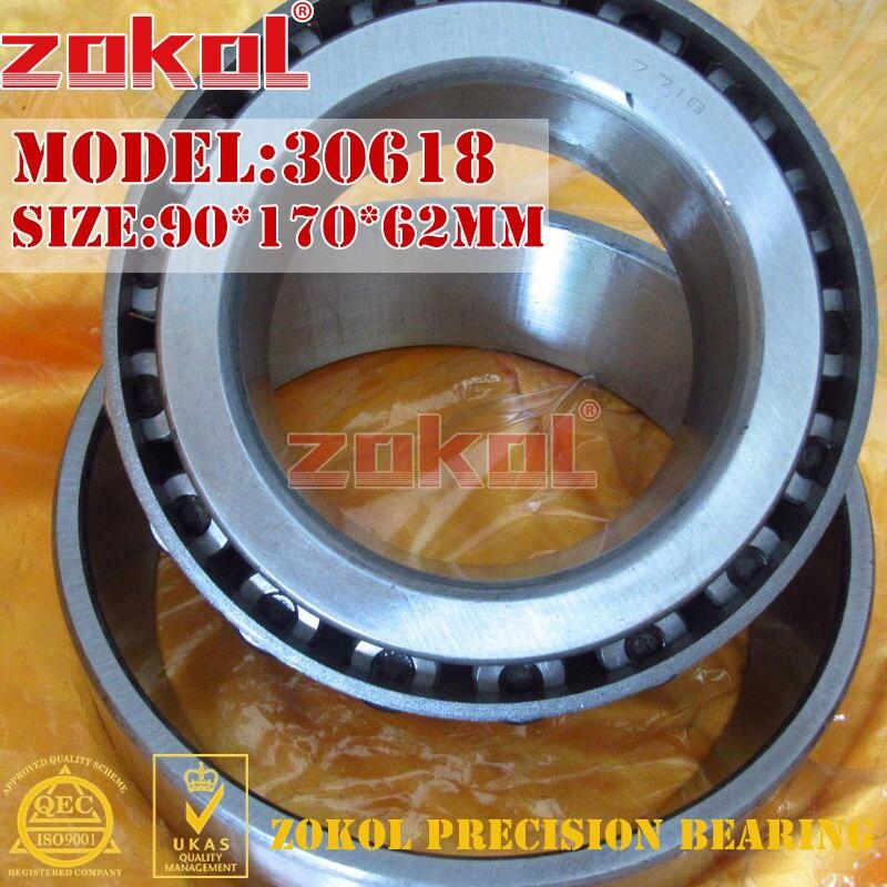 ZOKOL bearing 30618 7818 E Tapered Roller Bearing 90*170*62mm zokol bearing 352218 97518e tapered roller bearing 90 160 95mm