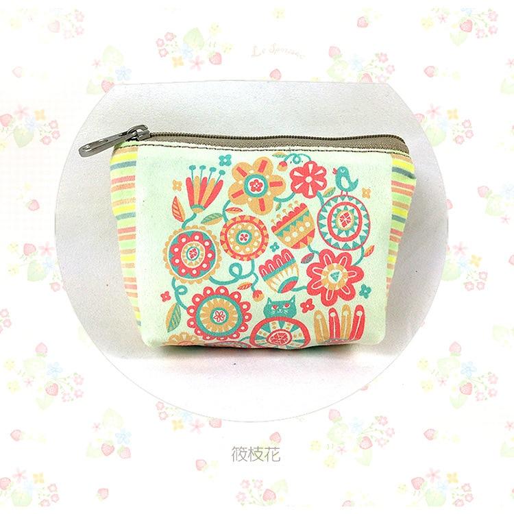 4e542e53c7fb 2019 Women Wallet Canvas Cartoon Coin Purse Travel Organizer Floral ...