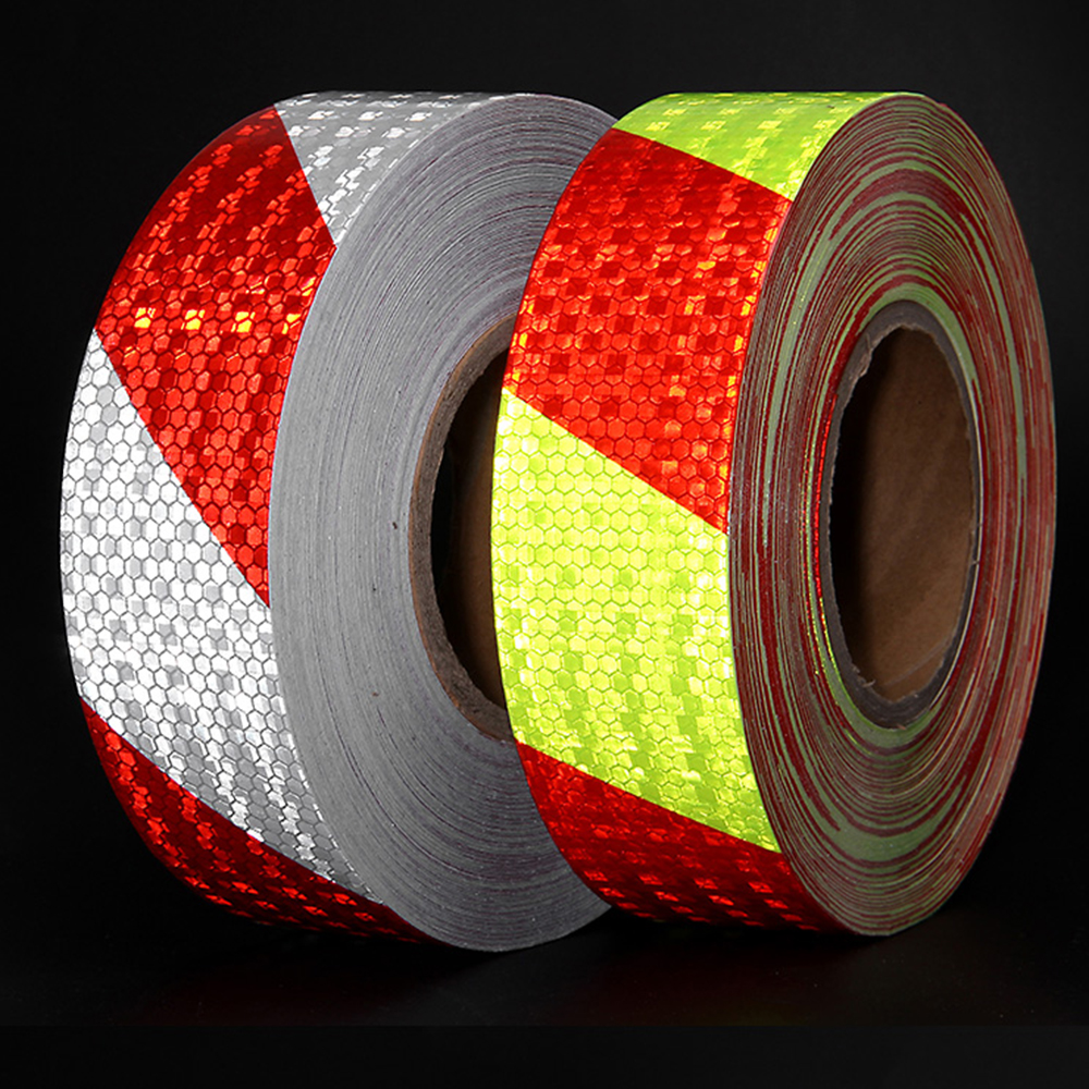 Arrow Reflective Conspicuity Tape Film 5*300cm Safety Warning Sign Car Truck RV.