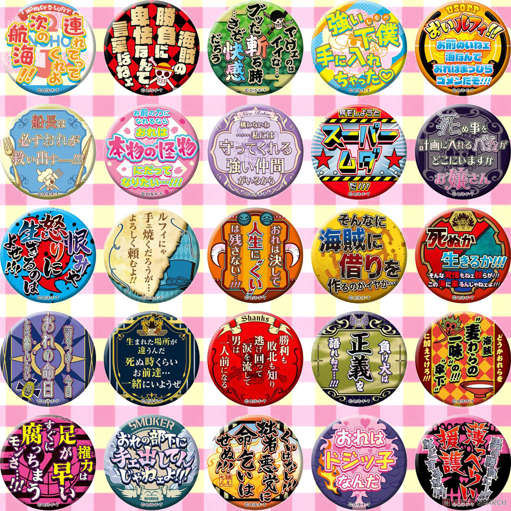 Japan Anime ONE PIECE  Cosplay Badge Cartoon Collection Backpacks Badges Bags Button Brooch Pins Gift