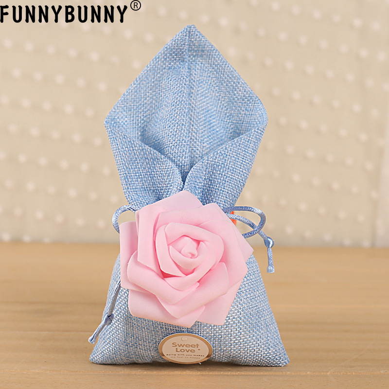 FUNNYBUNNY Wedding Favors Events Party Supplies Gift Candy Box Bag Bride Baby Shower in Gift Bags Wrapping Supplies from Home Garden