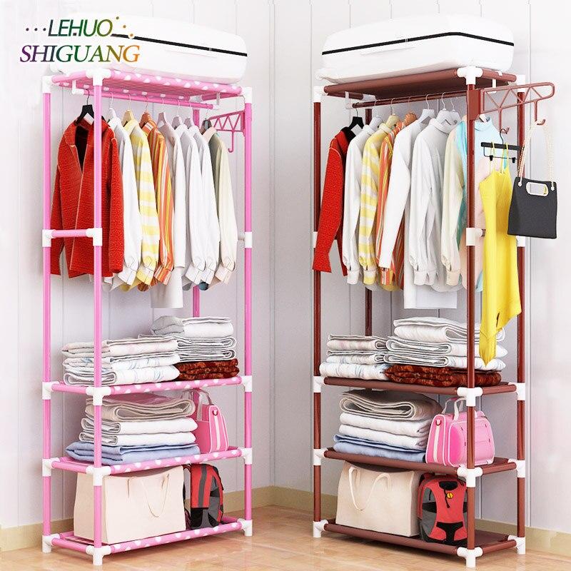 Porte-manteau en acier Inoxydable nontissés Montage Simple peut être enlevé Chambre Suspendre les vêtements de stockage cintre garde-robe