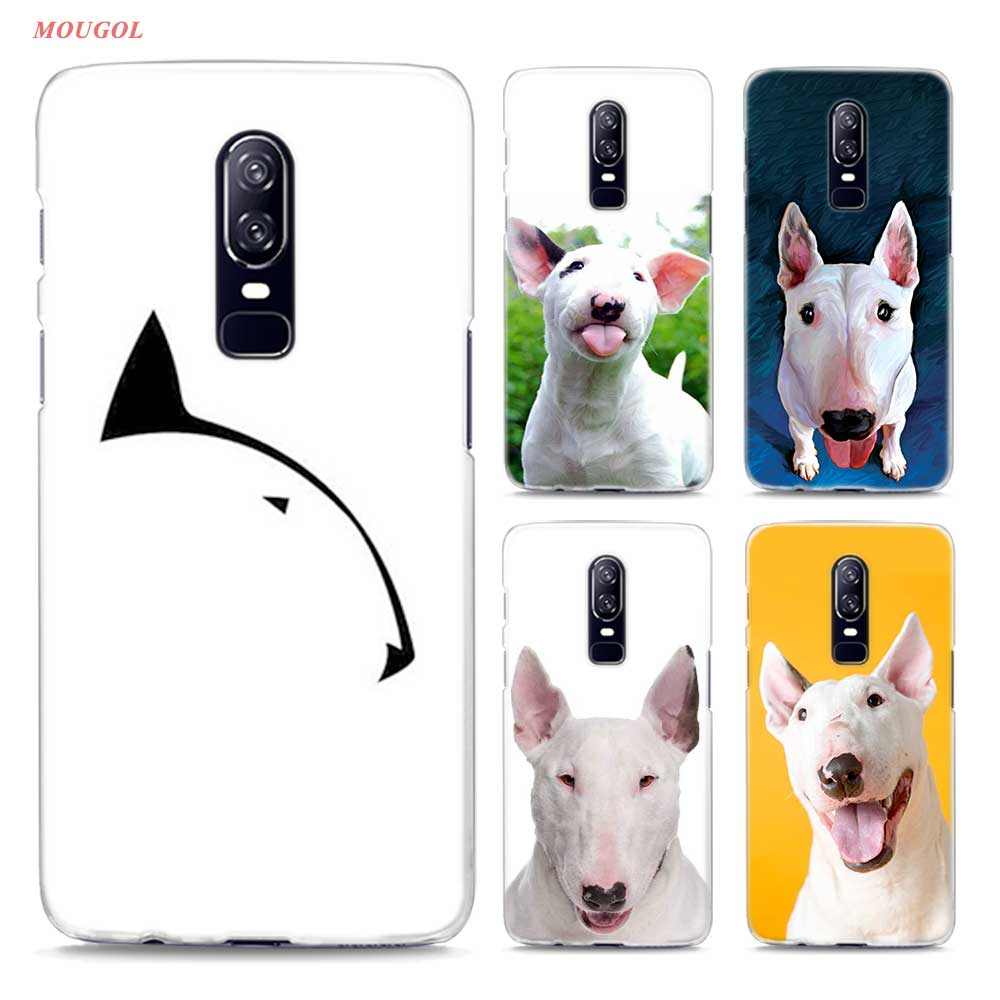 Transparent Hard Case For Oneplus 6 Bullterrier bull terrier (1) Printing Drawing Hard Phone Cases Cover For Oneplus 6