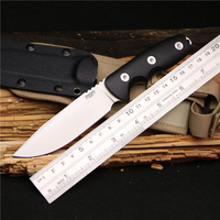PSRK Sharp Hunters 12C27 blade Wood handle high hardness hunting fixed tactical utility knife outdoor tool camping EDC knive