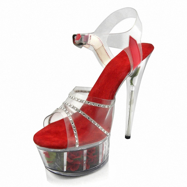 Full Clear Crystal 15CM Super High Heel Platforms Pole Dance / Performance / Star / Model Shoes, Wedding Shoes 15cm sexy super high heel platforms pole dance performance star model shoes wedding shoes crystal shoes