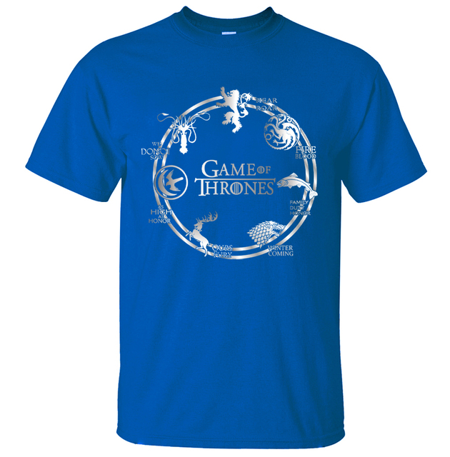Game of Thrones Cotton Men T-Shirts 1
