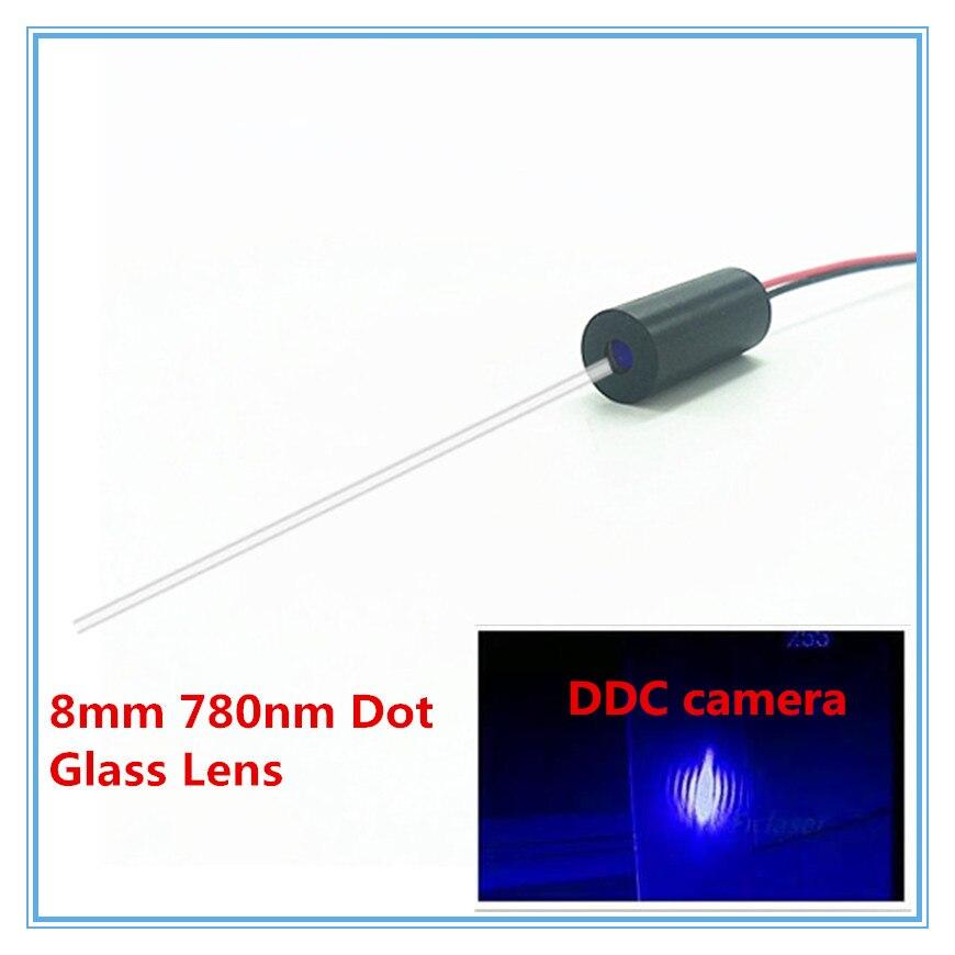 Haut de Gamme Lentille En Verre 8mm 780nm 1 mW 5 mW 10 mW IR Dot Laser Module de Qualité Industrielle APC pilote