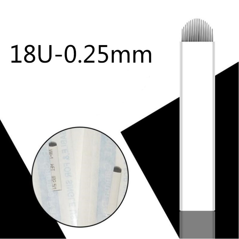 0 25mm U Shape 12 14 16 18 Pins Tattoo Needles Permanent Makeup Eyebrow Embroidery Microblading