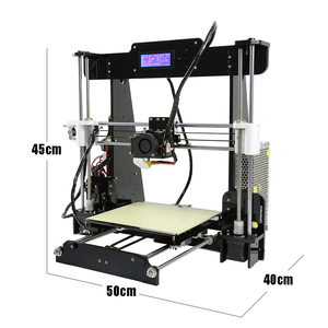 Image 2 - Anet A6/A8 طابعة ثلاثية الأبعاد مستوى السيارات والعادية 0.4 مللي متر فوهة i3 سبائك الألومنيوم Hotbed Pritner لتقوم بها بنفسك عدة خيوط 8 جرام بطاقة SD
