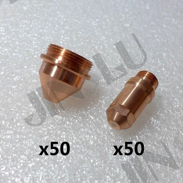 Elektrody 50 + 1.2 1.6 1.8 końcówki 50 YGX 100 YK 100 100A YGX 100103 YK 100102 Huayuan LGK 100 LGK 120 materiały eksploatacyjne CNC palnik plazmowy