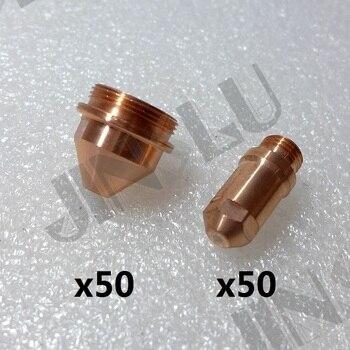 yk electrode 50 + 1.2 1.6 1.8 Tip 50 YGX-100 YK-100 100A YGX 100103 YK 100102  Huayuan LGK-100 LGK-120 consumables CNC Plasma Torch