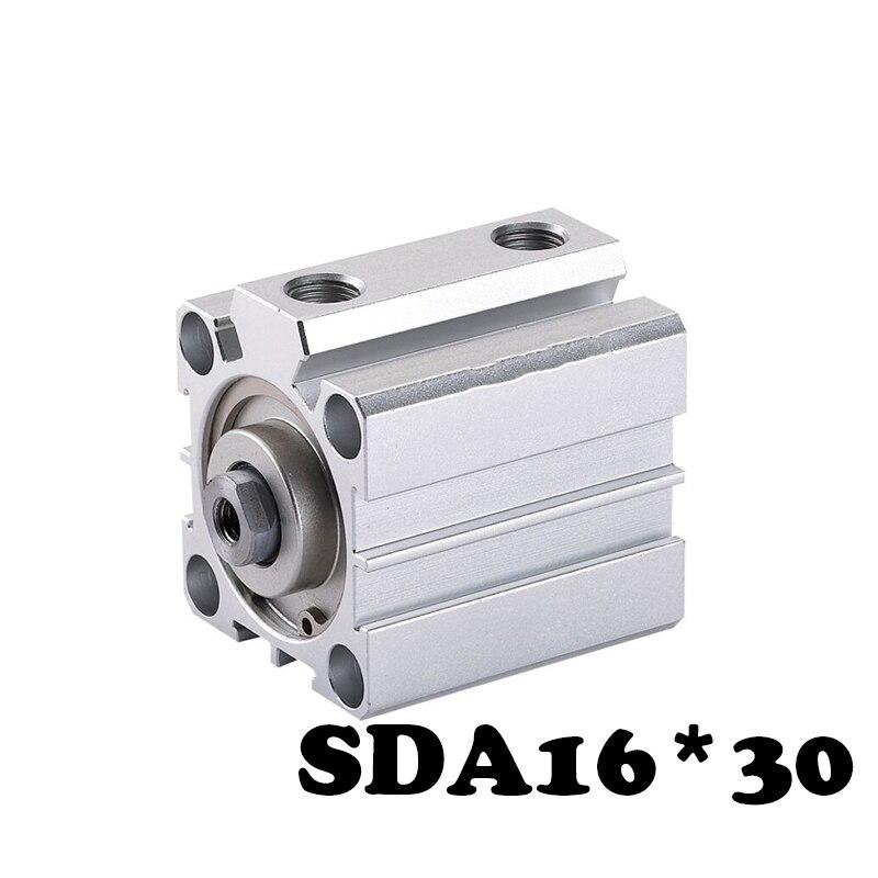 Livre shippingSDA16 * 30 Padrão Tipo Pneumático Cilindros SDA cilindro fino Dual Mode