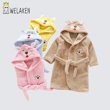 506eeab85e weLaken Baby Robes 2018 Cartoon Cute Bear For Boys Girls Hooded Robes  Clothes Kids Causl Full Sleeve Bathrobe Children Robes