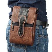レトロ革フックポーチ電話バッグ用iphoneベルトホルスターカバーバックパック財布電話バッグ用サムスン注8用xiaomi max2