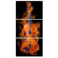 ArtBack three spells guitar fire pattern 5d diy diamond painting full square 3D diamond cross stitch mosaic decorative artwork