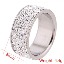 Crystal Jewelry Fashion Stainless Steel Engagement Rings