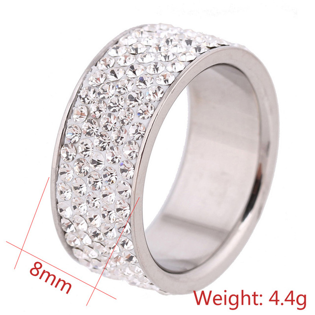 Crystal Jewelry Fashion  Rings 5 Row