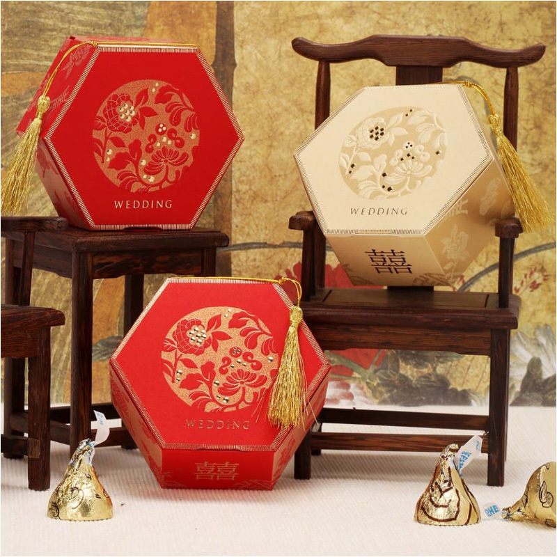 Wedding Gift Boxes: Aliexpress.com : Buy Elegant Gold Red Candy Gift Boxes