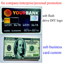 Bank Card Super Slim 64gb USB Flash Drive 4GB 8GB 16GB 32GB Credit Card Customised Your Logo USB Memory Stick Real Capacity Gift