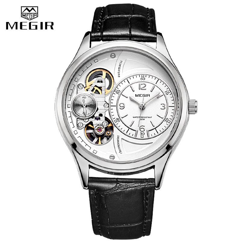 MEGIR Men Analog Quartz Watch Luxury Fashion Brand Leather Waterproof Man Watch Clock Men Erkek Kol Saati Relogio Masculino 2019MEGIR Men Analog Quartz Watch Luxury Fashion Brand Leather Waterproof Man Watch Clock Men Erkek Kol Saati Relogio Masculino 2019