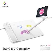 XP-Ручка G430 4×3 дюймовый Ультратонкий Графический Рисунок Таблетка для Игры ОГУ и батареек стилус дизайн! геймплей