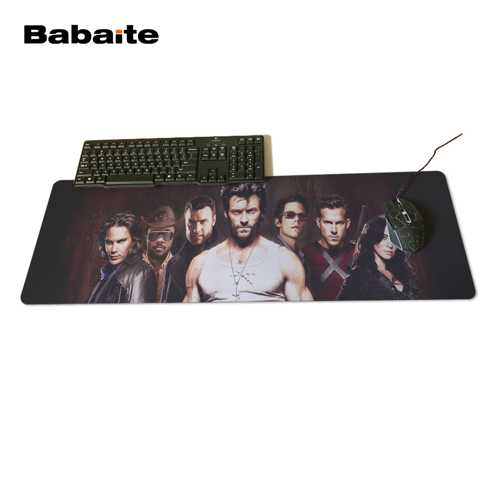 Babaite 2017 Newest X-men Mouse pad 700x300x3mm pad to Mouse Notbook Computer Mousepad Big Gaming Padmouse Gamer to Laptop Mouse