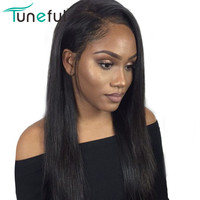 Lace Front Human Hair Wigs For Women Pre Plucked Hairline With Baby Hair 8 28 Inch 150% Raw Indian Straight Remy Human Hair Wigs