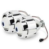 Safego hid bi xenon lens kit mask Shroud 2.5inch bixenon projector lens for H4 H7 Bi xenon lens H1,H11,9005,9006 car headlight