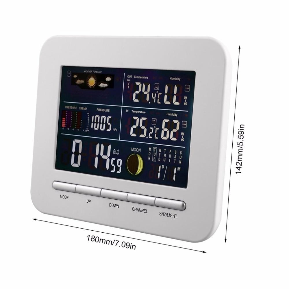 Wireless Digital Forecast Weather Station Clock Remote Sensor