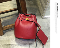 2019 new luxury women real leather bag bucket leather , free transport high quality