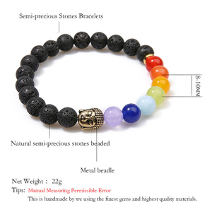 Image 2 - OAIITE 7 Chakra Gold Buddha Lose Weight Bracelets For Women Men Natural Stone Beads Jewelry Chakra Bracelet Yoga Prayer Therapy