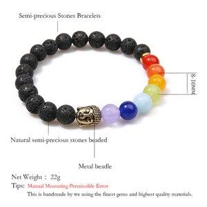 Image 2 - Oaiite 7 Chakra Gouden Boeddha Afvallen Armbanden Voor Vrouwen Mannen Natuursteen Kralen Sieraden Chakra Armband Yoga Gebed Therapie