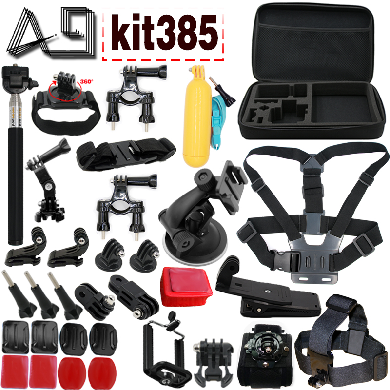 A9 For Go Pro Accessories set for GoPro Accessories Combo Kit with EVA Case for GoPro HERO5 / HERO4 Session / HERO 5 / 4 /3+