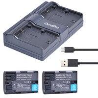 2pc LP E6 LP E6 LPE6 LP E6N Rechargeable Battery USB Dual Charger For Canon LP