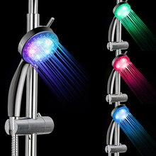 Красочная Душевая насадка для дома, ванной комнаты, 7 цветов, меняющий светодиодный светильник для душа