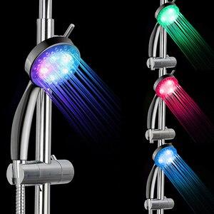7 Color LED Shower Head No LED Rainfall Changing Shower Head pressure Automatic Waterfall Shower Single Bathroom Showerhead