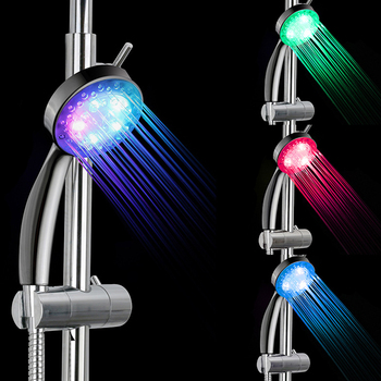 modern led ceiling shower head embedded massage rainfall waterfall shower faucet bathroom accessories big shower panel 700 380mm 7 Color LED Shower Head No LED Rainfall Changing Shower Head pressure Automatic Waterfall Shower Single Bathroom Showerhead