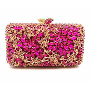 Hollow Out gold Evening Socialite Crystal Clutch  5