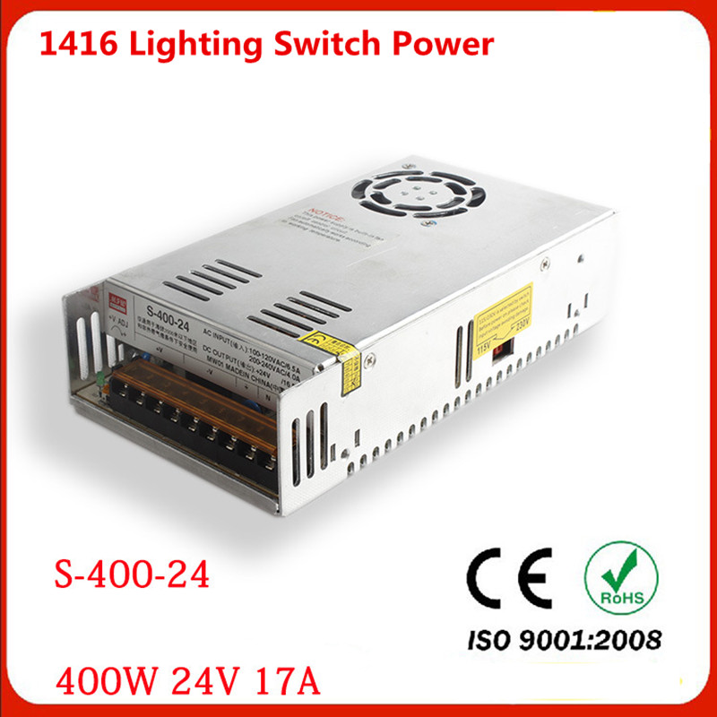 ФОТО Manufacturers output 400W 24V 17A switch power S-400W-24v LED drive high power instrumentation DC power supply