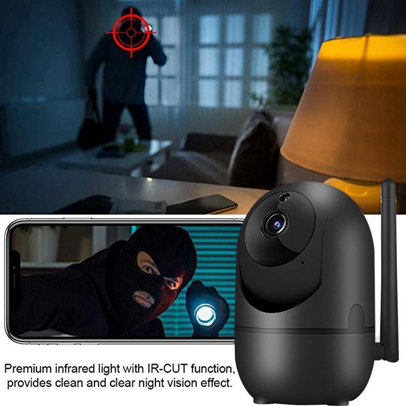 wdskivi Auto Track 1080P IP Camera Surveillance Security Monitor WiFi Wireless Mini Smart Alarm CCTV Indoor Camera YCC365 Plus